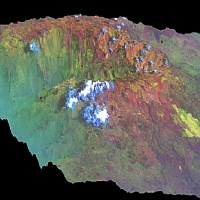 DEM and 3D-view (RADARSAT-1 & TERRA-ASTER), Cameroon 2004